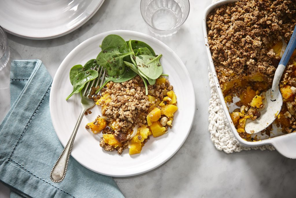 Fall butternut squash crumble with Zen granola