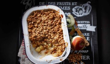 Apple and Granola Crumble with Maple Syrup