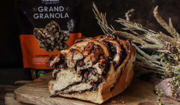 Chocolate and Granola Babka