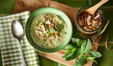 Green Gazpacho with Granola
