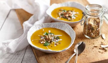 Butternut Squash Soup with Zen Granola