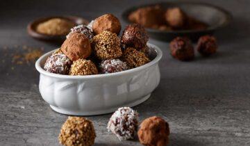 Chocolate Truffles with Granola