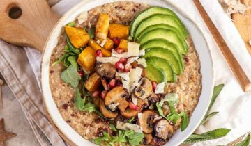 Savoury Oatmeal with Mushrooms, Squash and Sage