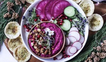 Hummus with roasted beets
