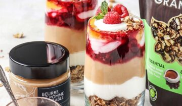 Raspberry, Cider and Apple Maple Butter Parfait