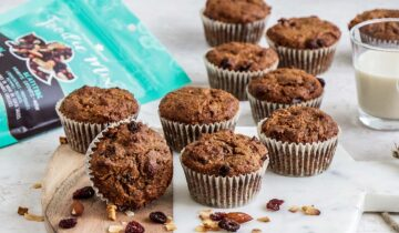 Apple, Carrot and Trail Mix Muffins